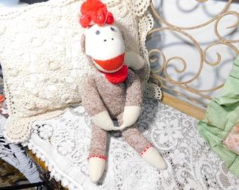 Sock Monkey, Monkey, Vintage Sock Monkey, Monkey, Vintage Stuffed Animals, Vintage Toys, Prop :)s*