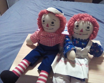 Raggedy Ann and Andy dolls pre 1970's