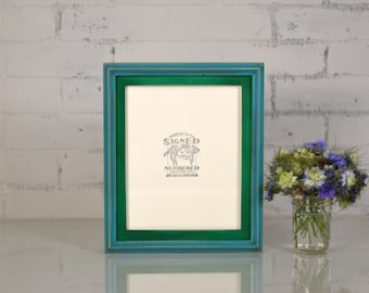 """8x10"""" Picture Frame in 1x1 Double Cove Build Up Style and VINTAGE Finish Color Combination of YOUR CHOICE - 8x10 Photo Frames Handmade"""
