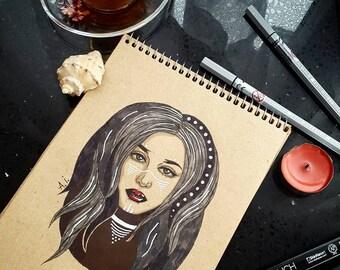 Tribal girl. Original art