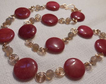 Agate and Bronze necklace