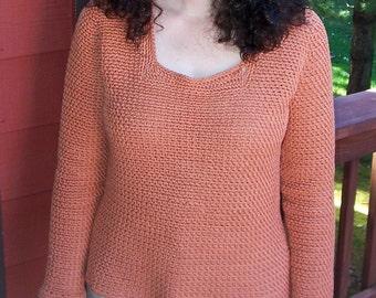 Seed Stitch Crochet Sweater Pattern