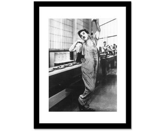 Black and white photo of Charlie Chaplin