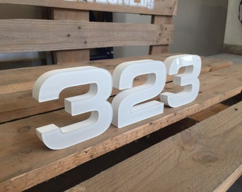 Set of Numbers House Number Address sign Modern house numbers