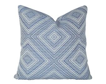 Tortola Marine designer pillow covers - Indoor/Outdoor - Made to Order - Schumacher