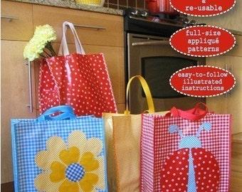 Sigrid Oilcloth Market Bag Pattern