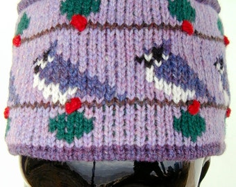 Adult Purple Bluejay Pillbox Hat