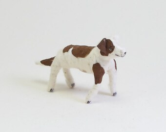 Spun Cotton Vintage Inspired Fido Dog Ornament/Figure (MADE TO ORDER)