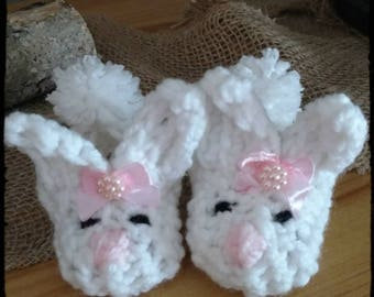 Newborn Easter Bunny Shoes Crochet