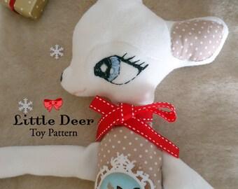 Little Deer Toy Pattern  I N S T A N T   D O W N L O A D