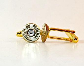 Bullet Jewelry- 38 Special Brass Bullet Cuff Links