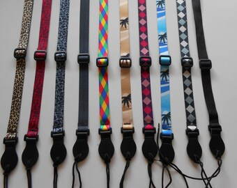 UK MADE Adjustable Mandolin or Ukulele Strap complete with Tie Cord - 10 Different designs - Can also be used as a childs guitar strap