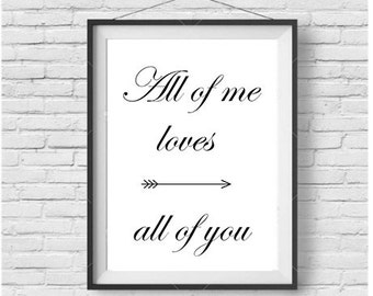 Printable art Digital Prints Wall art home decor Love Quote