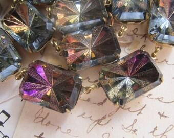 """Anna Wintour Necklace, purple Statement Necklace, Art Deco statement necklace, Heliotrope violet collet necklace. """"Declaration"""""""