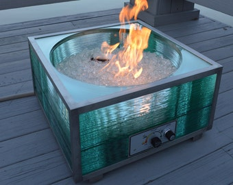 Emerald Glass Fire Pit