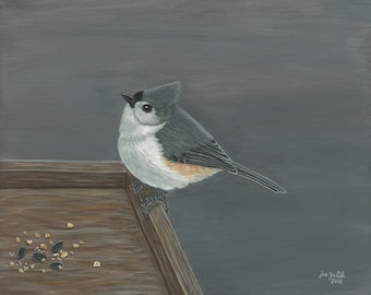 Tufted Titmouse - Fine Art Print of Original Bird Painting by Joe Zalik