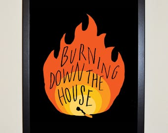 Burning Down the House - Talking Heads Poster A3 or A4