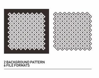 Japan Pattern Digital Download, Pattern Silhouette  Vector Clipart , Pdf,Png,Svg,Dfx,Ai,Eps, Silhouette Cut File