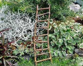 Mossy Twig Ladder for Miniature Garden, Fairy Garden