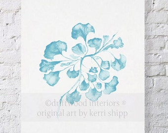 Sea Fan in French Blue IV Print