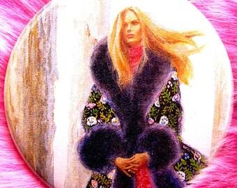 Pocket Mirror - Snow Queen - Vintage Gothic Romance