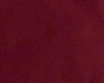 Burgundy - 10oz cotton/lycra knit fabric - 95/5 cotton/spandex jersey knit - By The Yard