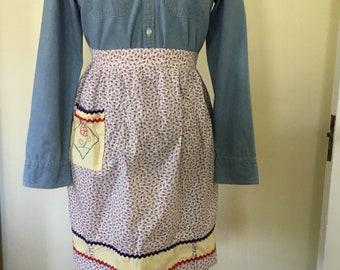 Vintage calico apron