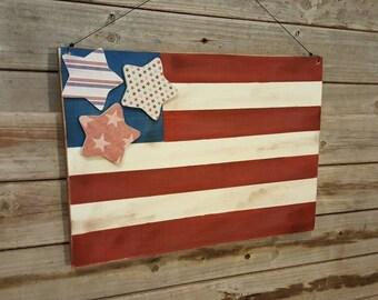 American Flag Decoration.. 4th of July Decor, Patriotic decor