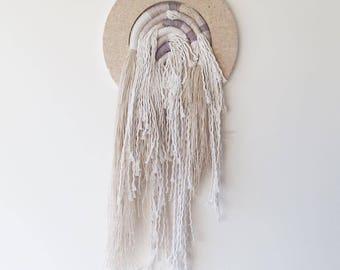 SALE PRICE Fiber art home decoration / Knot art wall hanging / Cotton and linen wall art