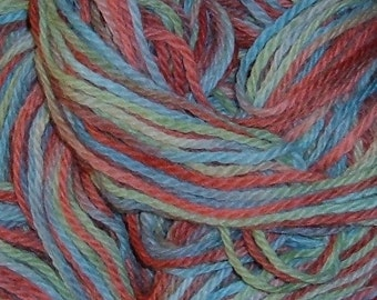 Hand painted Llama Wool Yarn LENTEN ROSE