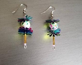 Colorful and sweet lollipop earrings