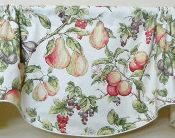 P. Kaufmann Summer Orchard Window Valance / Corded, Lined Valance/ Rod Pocket Scalloped Valance