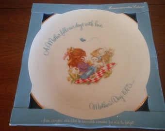 Vintage 1975 Mothers Day Plate - Commemorative Plate - Vintage Gigi Plate - Mother's Day Plate