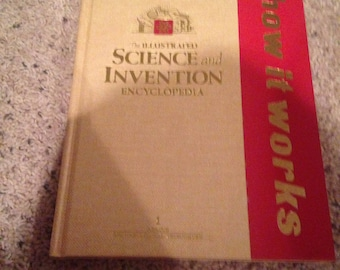 Vintage science and invention book