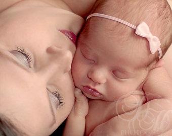Newborn Headband, Baby Girl Headband, Newborn Photo Prop, Baby Headband Bows, Newborn Bow Headband, Simple Newborn Headband, Baby Pink Bow