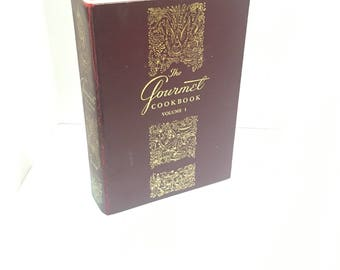The Gourmet Cook Book Volume 1, by Gourmet, Inc.1962 Vintage Cookbook A revival of the Appreciation of Good Eating in America  Bon Appetit