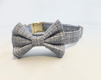Dog Bow Tie · Geometric Bow Tie · Wedding Dog Apparel · Wedding Accessory · Dog Wedding Accessory · Navy Bow Tie · Blue Dog Bow Tie ·