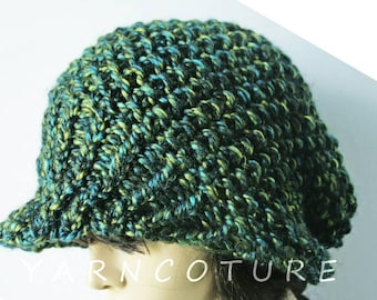 The Brimmed Slouchy Hat LUXE VERSION w/Stretch Satin Lining - Choose Your Color