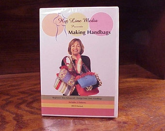Making Handbags DVD, with Susie Tilton, new and sealed, includes 2 Patterns, 2003, Craft Instruction, Project, Step by Step, Sewing