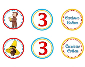 Curious George Cupcake Topper - Printable