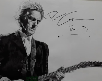 DOCTOR WHO Peter Capaldi AUTOGRAPHED Original drawing