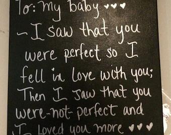 To my baby