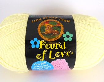 Pastel Yellow - Lion Brand Pound of Love acrylic baby yarn -  3028