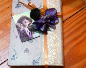 Altered book table decor