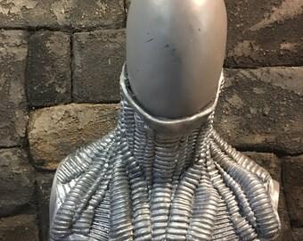 Silicone cyborg neck cowl