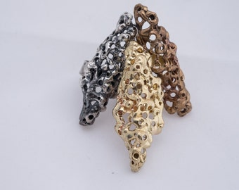 Adjustable Statment Ring  Brass or Bronze looks great with anything from jeans to a cocktail dress.