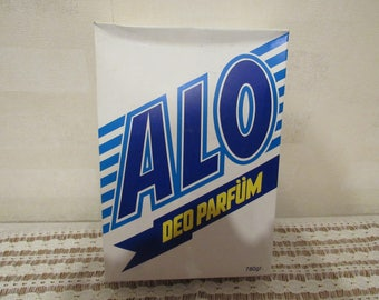 Vintage washing powder ALO, Vintage Detergent, made in Turkey, Procter & Gamble product, Retro Laundry Collectible, household item 1980s