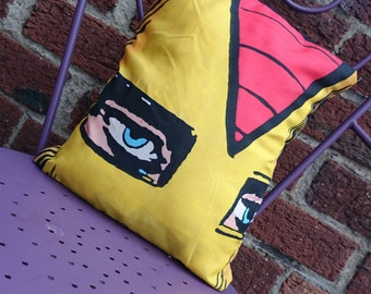 Iron man Avengers 14x14 Pillow Cushion Cover Upcycled Tshirts Eco