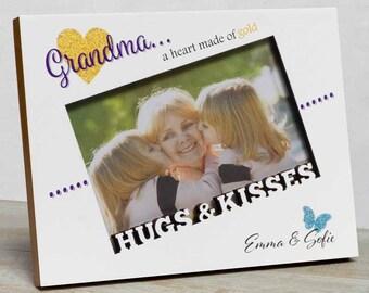 Grandma Personalized Picture Frame, Grandma Picture Frame, Grandmother Frame, Gifts For Grandma, Grandmother Gift, Mom Picture Frame Grandma