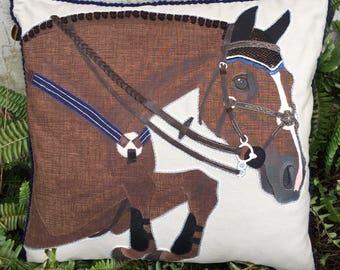 The Jumper Horse Pillow: Custom Equestrian Home Decor